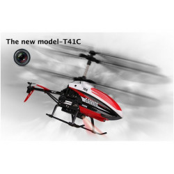 MJX T641C Helicoptere avec Camera 2.4Ghz Red