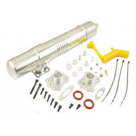 RJX 91 Muffler for all 90 /700 size nitro helis new version with yellow silicon pipe (RJX01-91-Y)