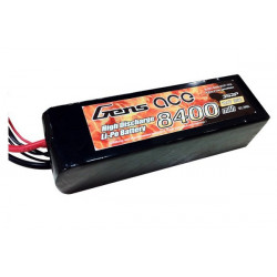 Gens ace 8400mAh 11.1V 25C 3S2P Lipo with Original TRX Connector (B-25C-8400-3S2P-TRX)